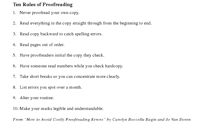 Prow 135 Proofreading And Copyediting Editing Symbols And
