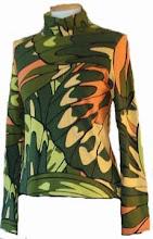 Camiseta alas verdes / naranjas