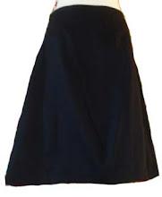 Falda pinzas trapecio loneta