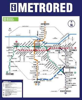 MOCHILANDO POR AÍ: Mapa do Metrô de Santiago do Chile