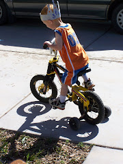 Birthday Boy riding his new bike