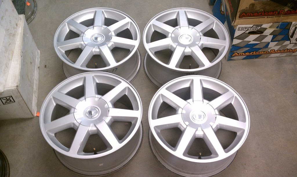 2005 Cadillac Sts Tires used 17 staggered cadillac oem factory wheels from 2005 cadillac sts