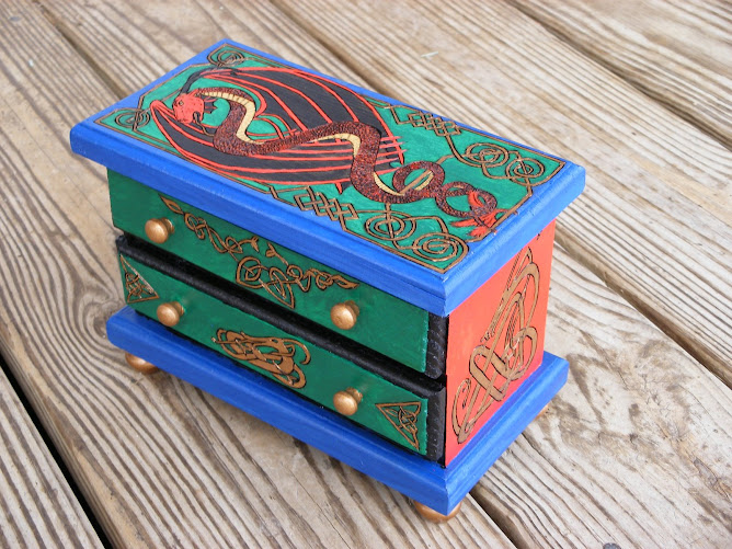 Dragons and Knotwork Jewelry Box