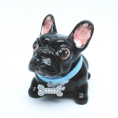Madamepommcustomorder Black French Bulldog Piggy Bank