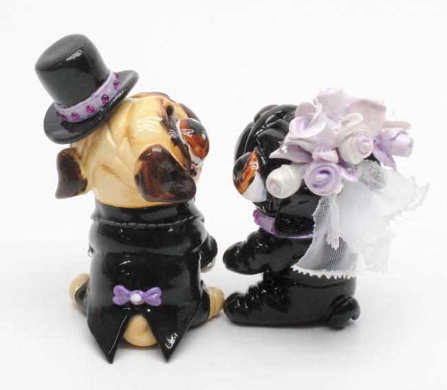 Black Pug Cake Topper