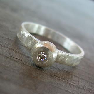 simple moissanite ring