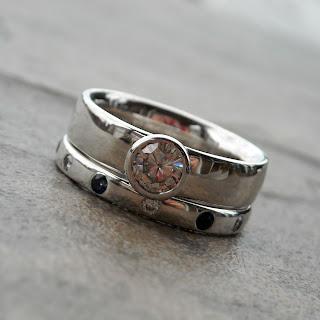 moissanite sapphire ring