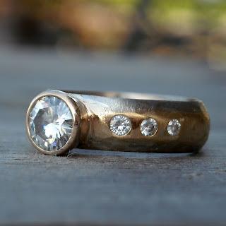 fair trade moissanite ring