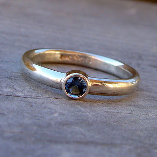 white gold sapphire