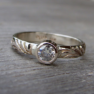 moissanite white gold