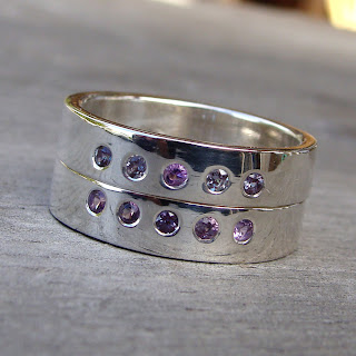 alexandrite silver rings