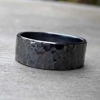 oxidized silver band