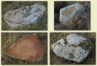 Erratics rafted by Icebergs during Ice Age Flood events.