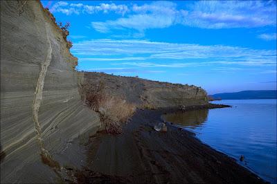 Clastic Dike in Ice Age Floods Rhythmites.