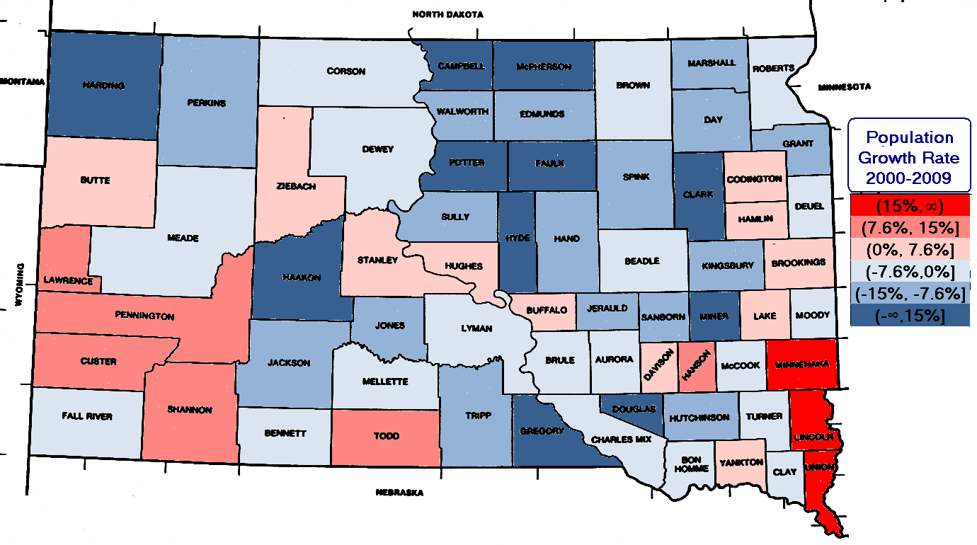 Madville Times South Dakota Urbanizes Counties Produce Of - Political map of south dakota