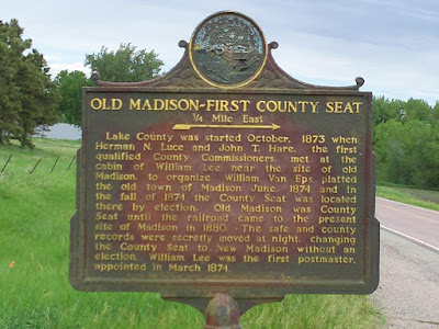 Historical Marker for Old Madison, Highway 19