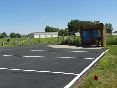 USFW bike trailhead, Highway 19, Lake Madison, SD
