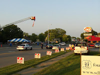 MPD directs traffic on Hwy 34 outside DQ