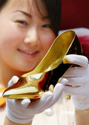 pure gold shoes