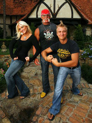 Hulk Hogan, daughter Brooke and Nick Logan