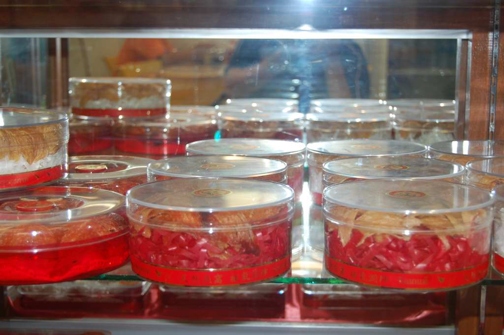 Bird Nest Sold At a Specialty Products Shop in Hatyai, Thailand