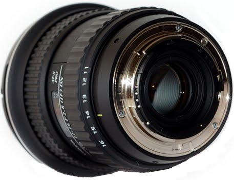 Tokina 11-16mm F2.8 AT-X 116 PRO DX Lens Lateral-Back View