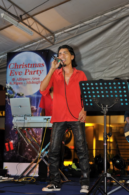 Christmas Eve Party Male Singer Performing