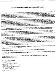 Page 1 of minister Andrew Drossos's agreement with Dave Hall private man