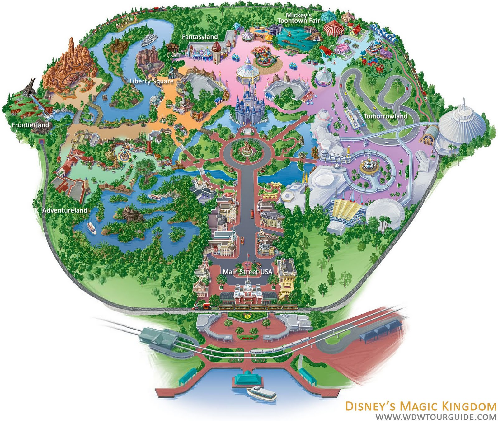 Current Disneyland Map It is bigger than disneyland