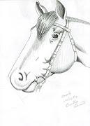 Hoje faço curso de desenho artístico, nada mais justo do que aprimorar o . (desenho cavalo)