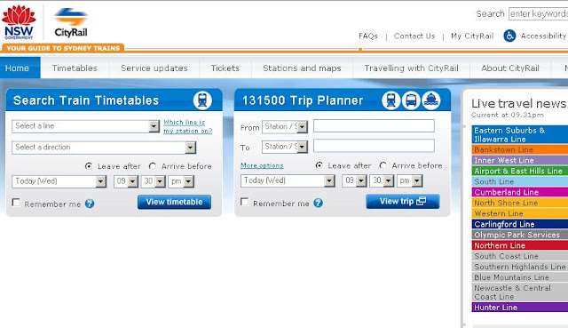 Www.cityrail.info - City Rail timetable - Tickets & Fare Calculator