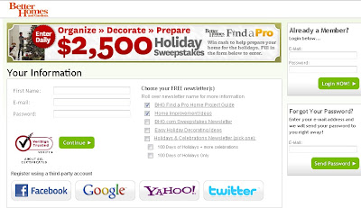 Find a Pro Holiday Sweepstakes on bhg.com/prepare