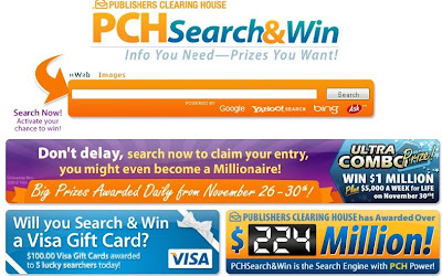 PCH's Bigmoney Contest Entry Info