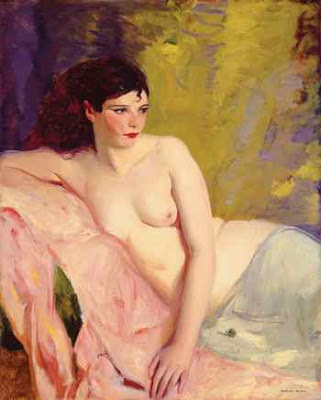 In the painting of Betalo nude above, also from 1916, Henri surrounds his