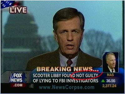 FOX: LIBBY FOUND NOT GUILTY!