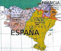 Ubicación de los territorios vascos