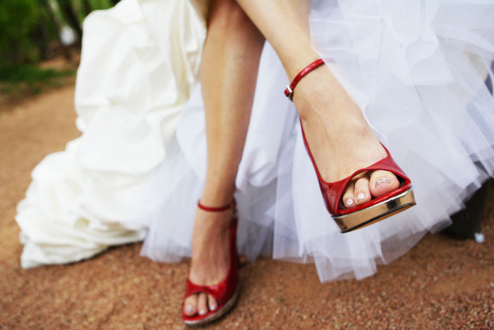 Fun colors for bridal shoes