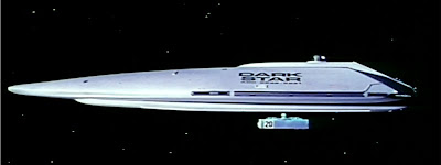 The fictional spaceship 'Dark Star', from the 1974 movie of the same name, directed by by John Carpenter