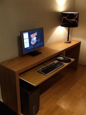 Mesa de ordenador para espacios estrechos mi llave allen for Mesas de ordenador ikea