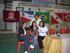 Feira Vocacional/Coordenadores UEPA-Vigia (Elielson e Damásia) e Ensino Médio Ivana e Samira