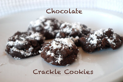 Frosted bake shop: Chocolate Crackle Cookies