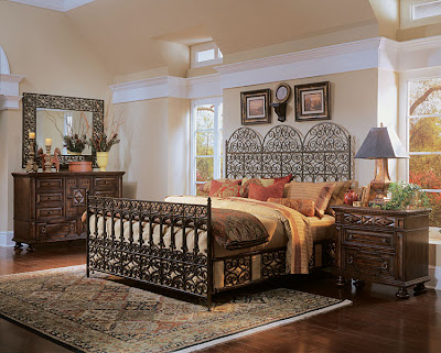 The Casablanca Metal Bedroom Set Is Constructed Of Birch Solids And