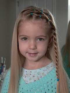 Little Girl's Hairstyles – Side Puffy Braid with Twist Braid