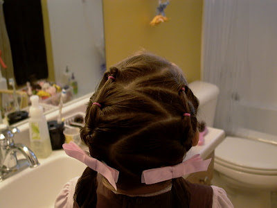 Little Girl's Hairstyles – Zig Zag Hair Part