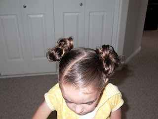 Little Girl's Hairstyles -How to do a Stuffed Bun