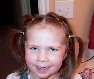 Little Girl's Hairstyles -Growing out bangs – Front Small Ponytails