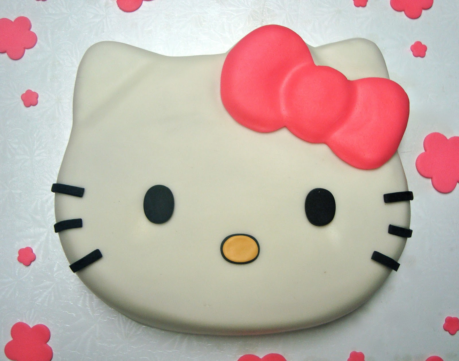 Images Of A Hello Kitty Cake : Apron Strings Baking : Crumb Coat Cakes: Hello Kitty!