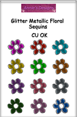 CU Glitter Metallic Floral Sequins Preview