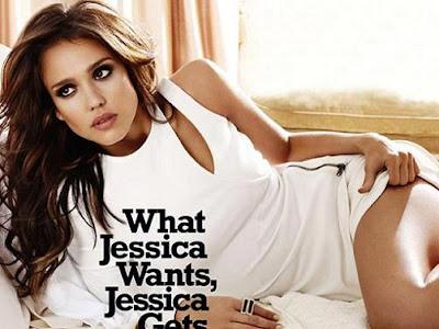bellezas jessica alba portada revista cosmopolitan peinado