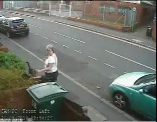 video mary bale mujer arroja tira gato al contenedor de basura